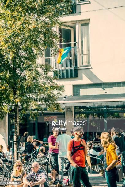 Helsinki street gathering - Kallio block party