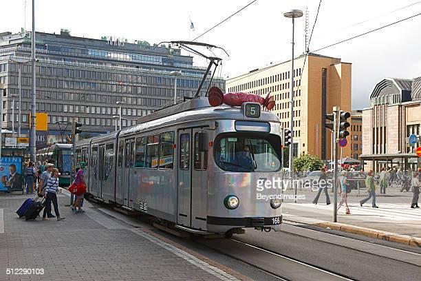 Helsinki's Culture Tram (kulttuuriratikka) in city centre
