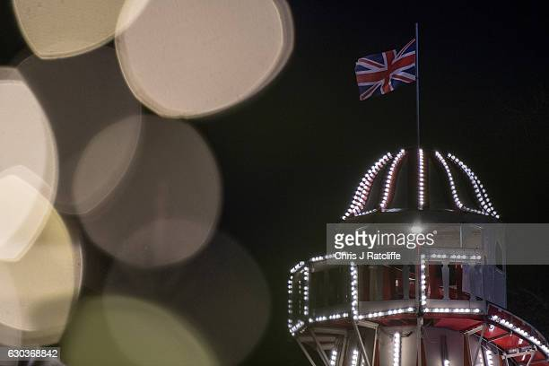 A helter skelter amongst fairy lights at the Winter Wonderland in Hyde Park on December 21 2016 in London England Winter Wonderland is a annual event...