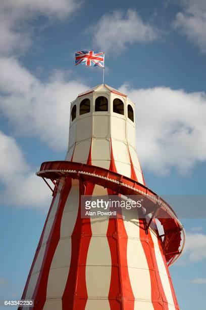 Helter Skelter Ride with British Flag