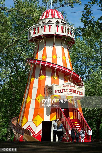 Helter Skelter Tower at Funfair Carnival Hyde Park