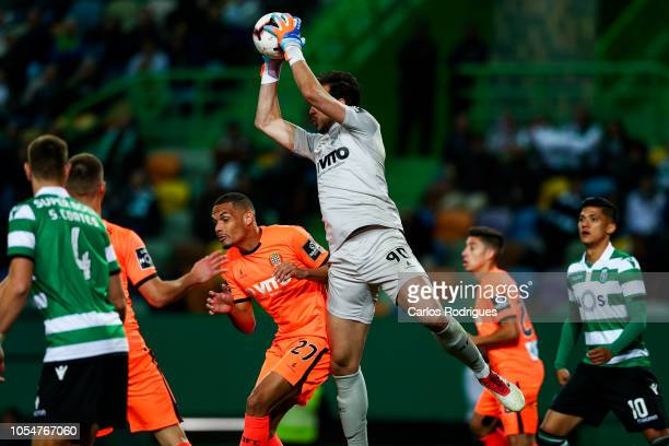 Helton Leite of Boavista FC during the Liga NOS round 8 match between Sporting CP and Boavista FC at Estadio Jose Alvalade on October 28 2018 in...
