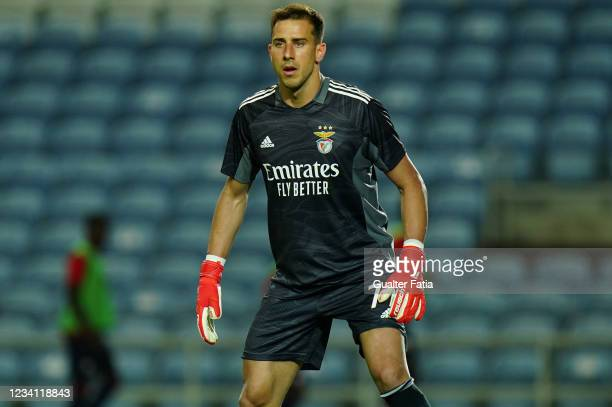 Helton Leite of SL Benfica in action during the Pre-Season Friendly match between SL Benfica and Lille at Estadio Algarve on July 22, 2021 in Loule,...