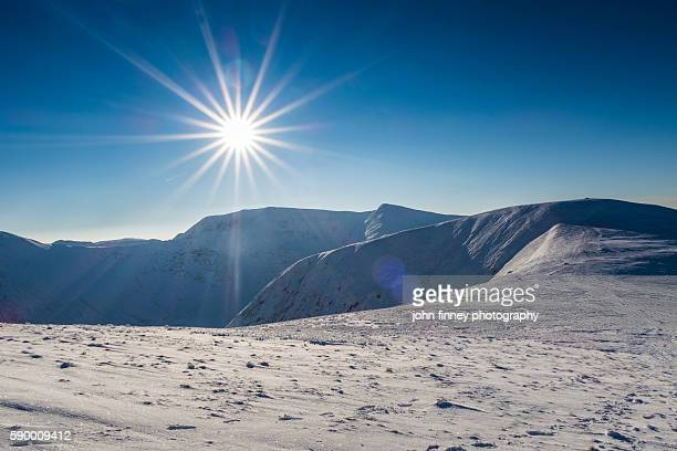 Helvellyn in Winter. Lake District National park. UK. Europe.