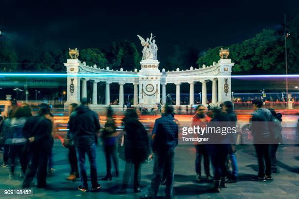 Hemiciclo a Juarez at night, Mexico City