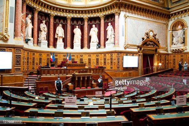 パリのフランス上院のヘミサイクル - 上院 ストックフォトと画像