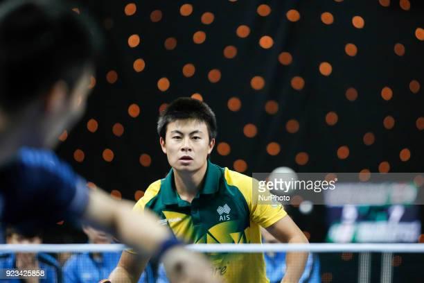 Heming HU of Australia during ITTF World Cup match between Sangsu LEE of Korea Republic and Heming HU of Australia, group 2 and 3 matches on February...
