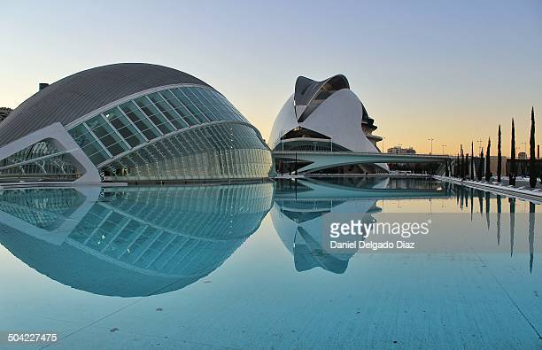 Hemisferic is an IMAX Cinema, planetarium and laserium. And the Palace of Arts. The City of Arts and Sciences in Valencia, designed by architect...