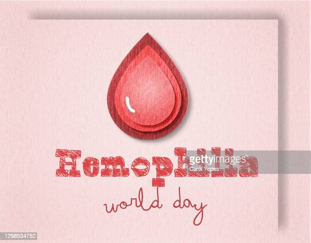 hemophilia world day in paper cut work - hemorrhoids stock pictures, royalty-free photos & images