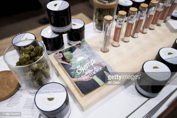 Hemp products on display at the Tennssee Grown booth Southern Hemp Expo at the Williamson County Agricultural Exposition Park in Franklin TN on...