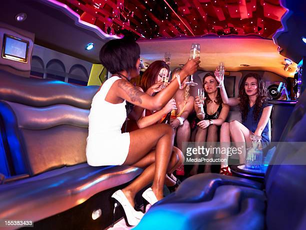 Hen party in a limousine