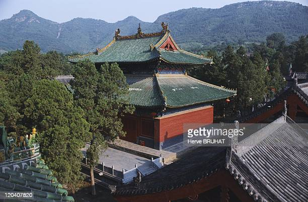 Henan in Shaolin, China - The temple of Shaolin, located on Song Mountain in Henan Province, 30 kilometers from the ancient capital of Luo Yang,...