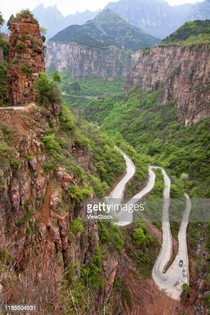 henan taihang guoliang village scenery - 太行山脈 ストックフォトと画像