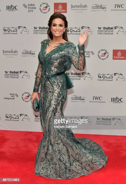 Hend Sabry attends the Opening Night Gala of the 14th annual Dubai International Film Festival held at the Madinat Jumeriah Complex on December 6...