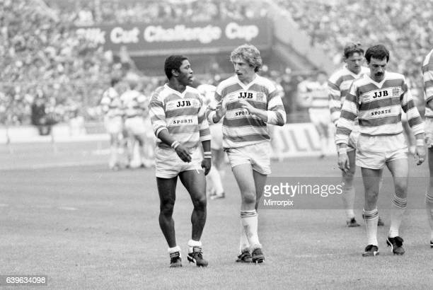 Henderson Gill and Brett Kenny Wigan 2824 Hull Rugby League Challenge Cup Final Wembley Stadium London Saturday 4th May 1985