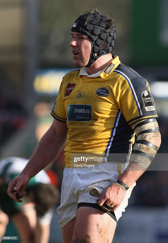 Hendre Fourie of Leeds pictured during the Guinness Premiership match between Leicester Tigers and Leeds Carnegie at Welford Road on March 1, 2008 in Leicester, England.