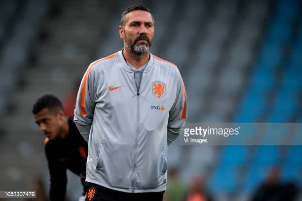 Hendri Kruzen during the EURO U21 2019 qualifying match between The Netherlands U21 and Ukraine U21 at the Vijverberg stadium on October 16 2018 in...