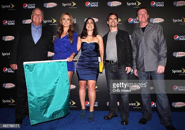Hendrick Motorsports president Rick Hendrick actress Audrina Patridge President of Auto Club Speedway Gillian Zucker NASCAR drivers Jeff Gordon and...