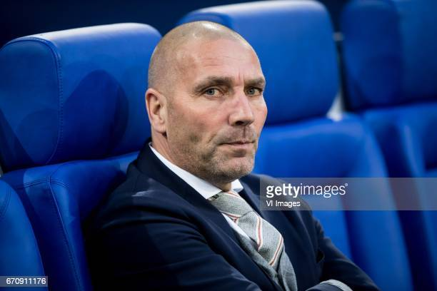 Hendrie Kruzenduring the UEFA Europa League quarter final match between Schalke 04 and Ajax Amsterdam on April 20 2017 at the VeltinsArena in...