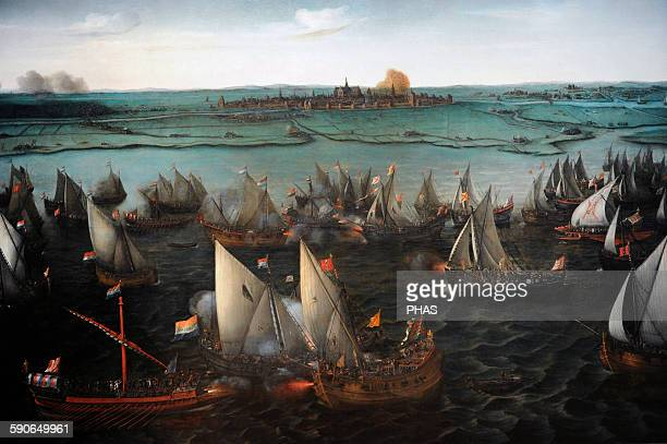 Hendrik Cornelisz Vroom Dutch painter Battle between Dutch and Spanish ships on the Haarlemmermeer 1629 Rijksmuseum Amsterdam Holland