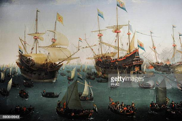 Hendrik Cornelisz Vroom Dutch painter The Return to Amsterdam of the Second Expedition to the East Indies 1599 Rijksmuseum Amsterdam Holland