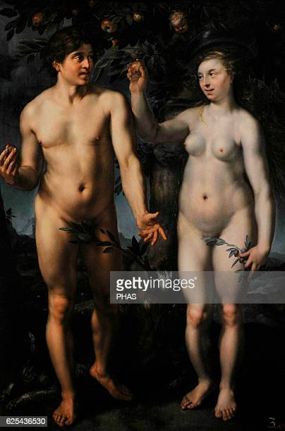 Hendrik Goltzius Germanborn Duch painter Adam and Eve 1608 Early Baroque period or Northern Mannerism The State Hermitage Museum Saint Petersburg...