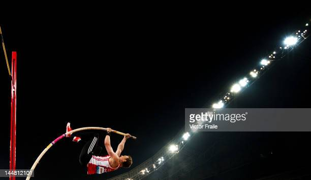 Hendrik Gruber of Germany competes in the Men's Pole Vault during the Samsung Diamond League on May 19 2012 at the Shanghai Stadium in Shanghai China