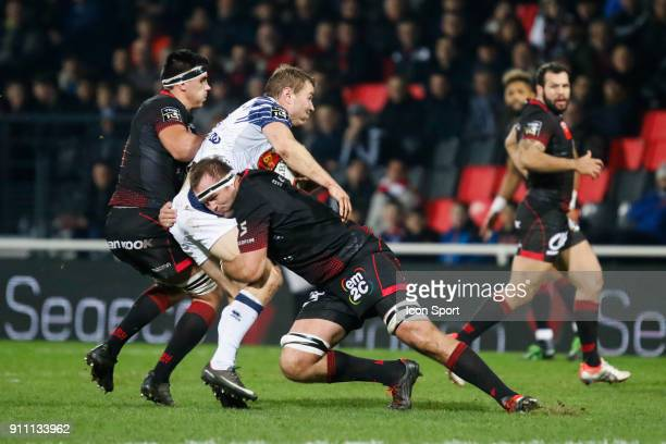 Hendrik Lambertus Roodt of Lyon during the Top 14 match between Lyon and Agen at Gerland Stadium on January 27 2018 in Lyon France