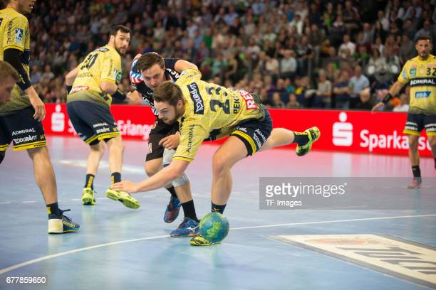 Hendrik Pekeler of RheinNeckar Loewen in action during the match between the HC Erlangen and the RheinNeckar Loewen on April 30 2017 in Erlangen...