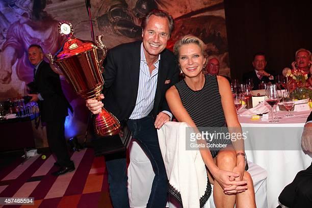 Hendrik TeNeues and his girlfriend Stephanie von Pfuel attend the Monti Memorial Charity Gala at Hotel Vier Jahreszeiten on October 18 2014 in Munich...