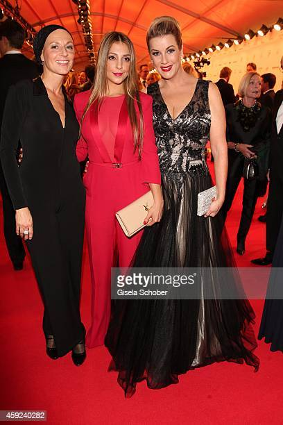 Hendrikje Fitz Arzu Bazman Alexa Maria Surholt arrive at the Bambi Awards 2014 on November 13 2014 in Berlin Germany