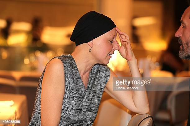 Hendrikje Fitz during an interview during the ARD advent dinner hosted by the program director of the tv station Erstes Deutsches Fernsehen at Hotel...