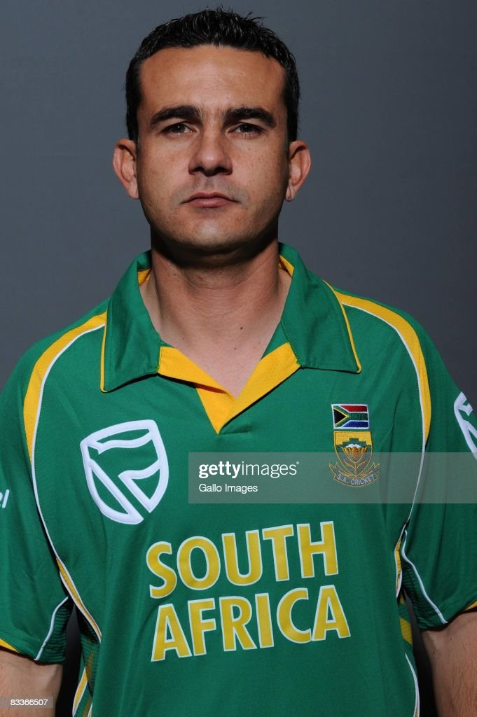 Hendrikus Coetzen poses during the South African One Day International team portait session at Grayston Southern Sun on October 20, 2008 in Johannesburg, South Africa.