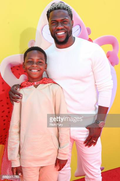 Hendrix Hart and actor Kevin Hart attend the premiere of 20th Century Fox's 'Captain Underpants The First Epic Movie' at Regency Village Theatre on...