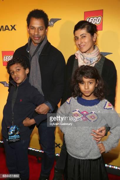 Hendrix Nakouzi Toure Rita Nakouzi and Fairuz Nakouzi attend The Lego Batman Movie Special Screening on February 9 2017 in New York City