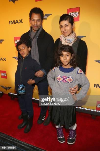 Hendrix Nakouzi Toure Rita Nakouzi and Fairuz Nakouzi attends The Lego Batman Movie Special Screening on February 9 2017 in New York City