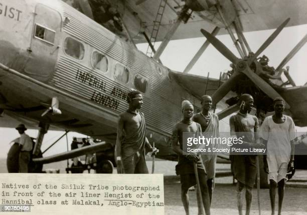 AAXE 'Hengist' at Malakal in AngloEgyptian Sudan with natives of the Shiluk tribe The Handley Page HP42 was the most famous Imperial Airways airliner...