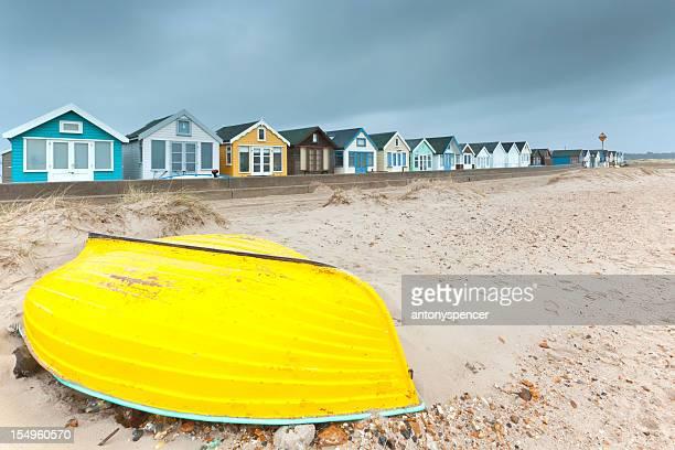 Hengistbury Head beach huts.