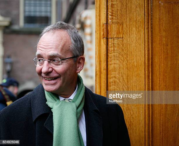 Henk Kamp minister of econmic affairs arrieves at the Ministry of General Affairs on December 5 2014 in The Hague Netherlands Every week on friday...