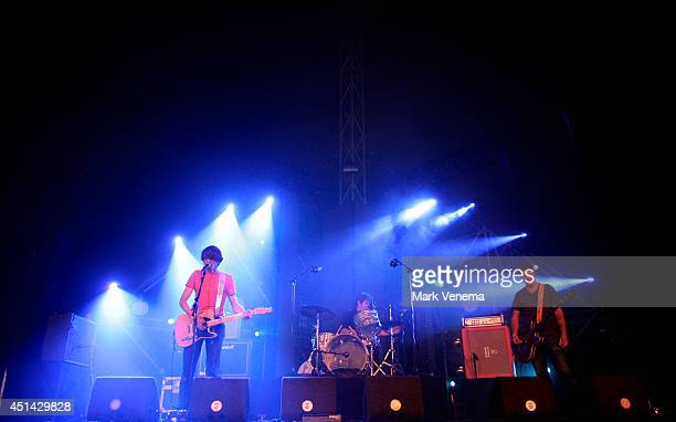 Henk Koorn Henk Jonkers and Peter Konings of Hallo Venray perform at Day 2 of Down The Rabbit Hole Festival at De Groene Heuvels on June 28 2014 in...