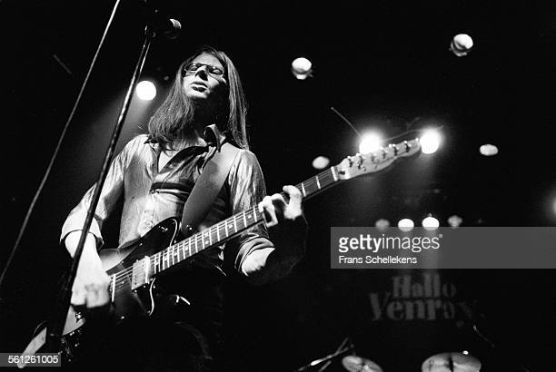 Henk Koorn, vocal and guitar, performs with Hallo Venray on March 6th 1992 at Tivoli in Utrecht, Netherlands.