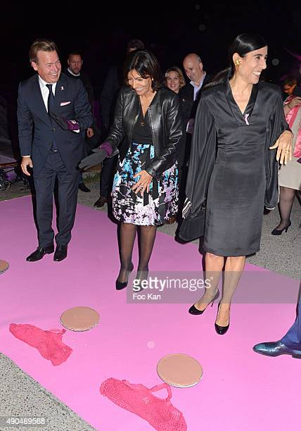 Henk Van Der Mark Anne Hidalgo and Blanca Li attend the 'Octobre Rose 2015' Party To Benefit Breast Cancer Research hosted by Estee Lauder At the...