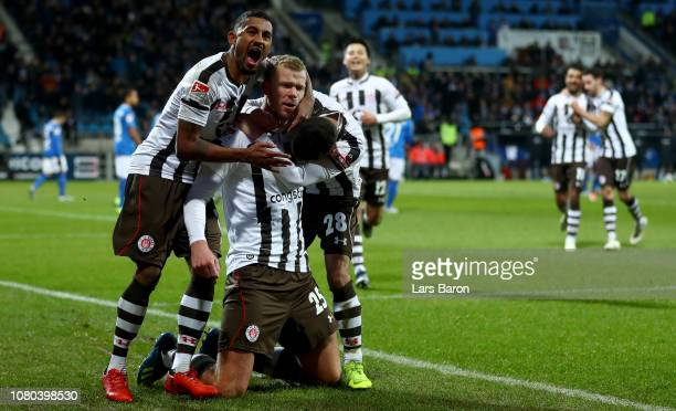 Henk Veermann of Pauli celebrates after scoring his teams second goal during the Second Bundesliga match between VfL Bochum 1848 and FC St Pauli at...