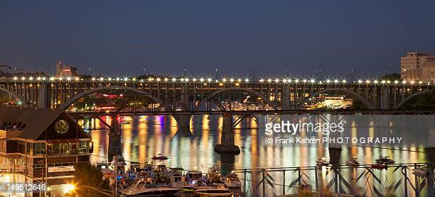 henley street bridge - knoxville tennessee stock pictures, royalty-free photos & images