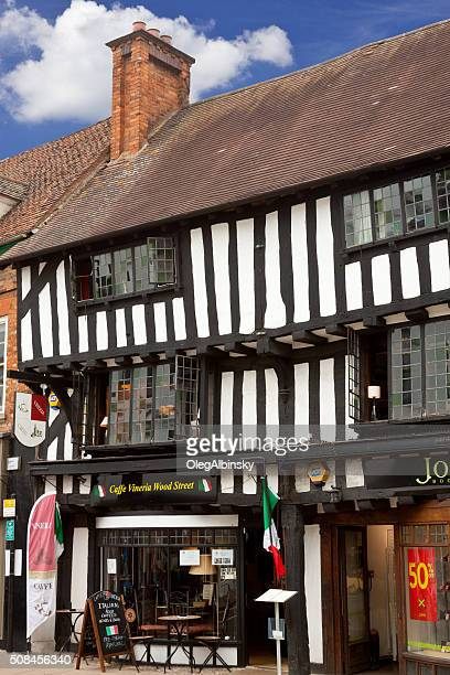 Henley Street in Historic Center of Stratford-upon-Avon, Warwickshire, England, UK.