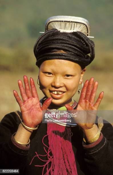 henna colored hands - son la stock pictures, royalty-free photos & images