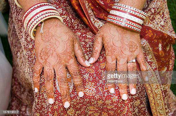 henna decoration on an Indian woman
