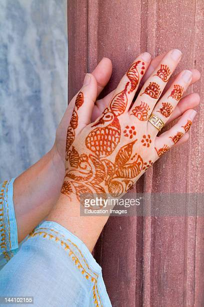 Henna Design On Womans Hands Delhi India