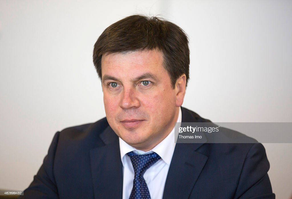 Hennadi Subko, Vice Prime Minister of Ukraine looks on February 3, 2015 in Berlin, Germany.