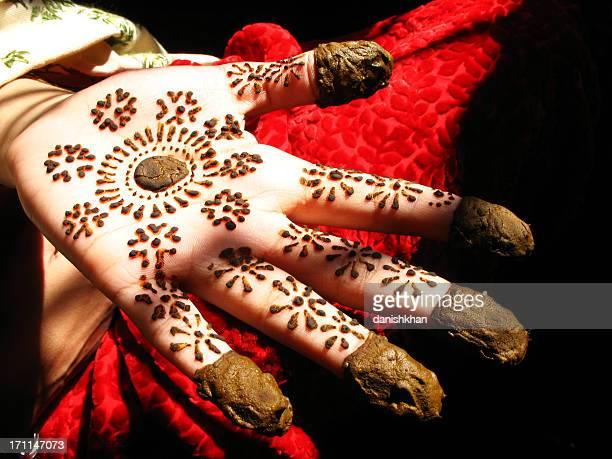 Hennaed hands